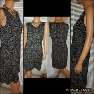 41 Hawthorn Black and white Viscose dress L
